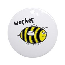 'Worker Bee' Ornament (Round)