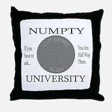 Numpty University Throw Pillow