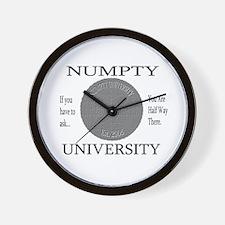 Numpty University Wall Clock