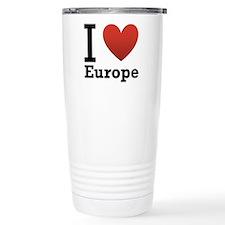 I Love Europe Travel Mug