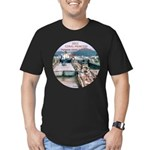 Coral Panama Canal 2011 - Men's Fitted T-Shirt (da
