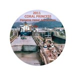 "Coral Panama Canal 2011 - 3.5"" Button (100 pack)"