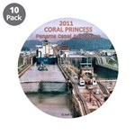 "Coral Panama Canal 2011 - 3.5"" Button (10 pack)"