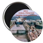 "Coral Panama Canal 2011 - 2.25"" Magnet (10 pack)"