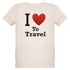 I Love To Travel Organic Kids T-Shirt