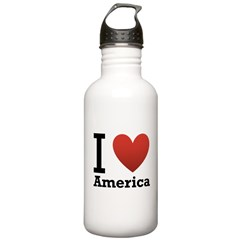 I Love America Water Bottle