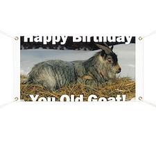 Old Goat Birthday Banner