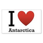 I Love Antarctica Sticker (Rectangle 50 pk)