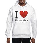 I Love Antarctica Hooded Sweatshirt