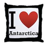 I Love Antarctica Throw Pillow