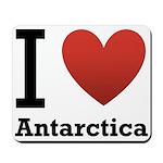 I Love Antarctica Mousepad