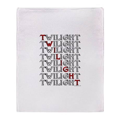 Twilight Text Block by twibaby Throw Blanket