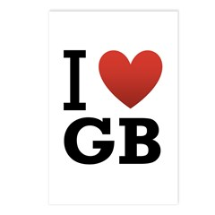 I Love GB Postcards (Package of 8)