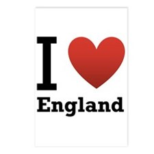 I Love England Postcards (Package of 8)