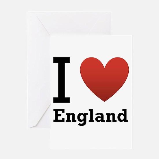 I Love England Greeting Card