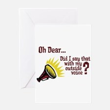 My Outside Voice Greeting Card