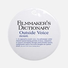 Outside Voice Ornament (Round)