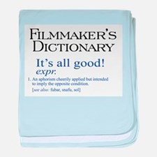 Film Dictionary: All Good! baby blanket