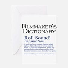 Film Dctnry: Roll Sound! Greeting Card