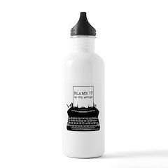 Blame the Typewriter Water Bottle