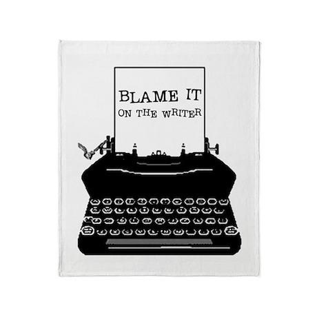 Blame the Typewriter Throw Blanket
