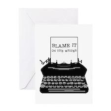 Blame the Typewriter Greeting Card