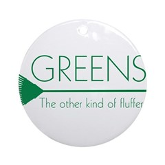 Greens: Fluffers Ornament (Round)