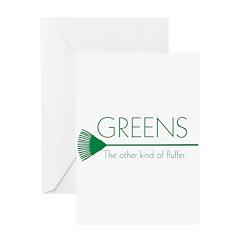 Greens: Fluffers Greeting Card