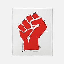 Raised Fist Throw Blanket