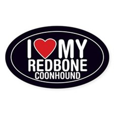 I Love My Redbone Coonhound Decal