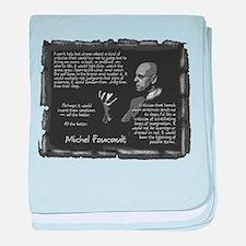 Foucault's Critique baby blanket