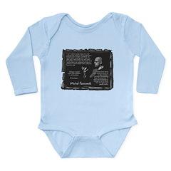 Foucault's Critique Long Sleeve Infant Bodysuit