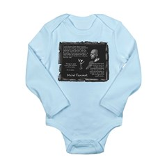 Foucault's Critique Long Sleeve Infant Bodysuit