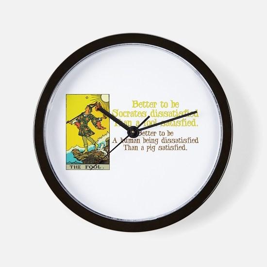 Better Dissatisfied Wall Clock