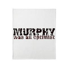 Grunge Optimist Throw Blanket