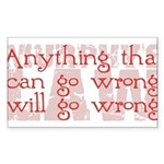 Murphy's Law Sticker (Rectangle 50 pk)