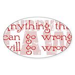 Murphy's Law Sticker (Oval 10 pk)
