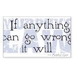 Murphy's Law V-II Sticker (Rectangle 50 pk)