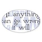 Murphy's Law V-II Sticker (Oval 50 pk)
