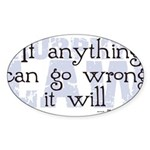 Murphy's Law V-II Sticker (Oval 10 pk)