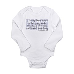 False Positive Long Sleeve Infant Bodysuit