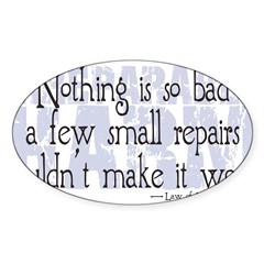 Irreparable Harm Sticker (Oval 10 pk)