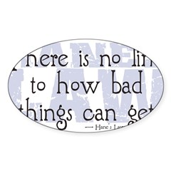 Hane's Law Sticker (Oval 10 pk)