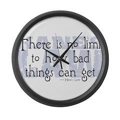 Hane's Law Large Wall Clock