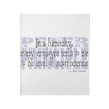Peter Principle Throw Blanket