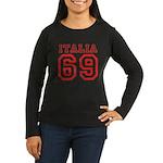 Vintage Italia 69 Women's Long Sleeve Dark T-Shirt