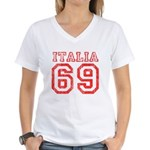 Vintage Italia 69 Women's V-Neck T-Shirt