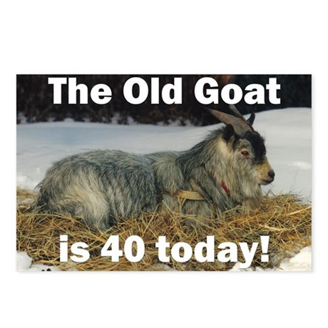 Old Goat is 40 Today Postcards (Package of 8)