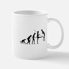 Evolution of Man Parody Mug