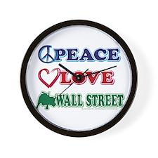 Peace Love Snowboard Wall Clock